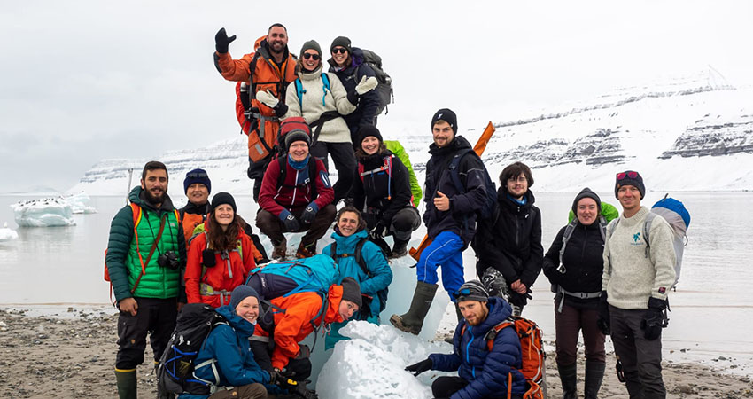 Ronja with fellow students. Photo: Private