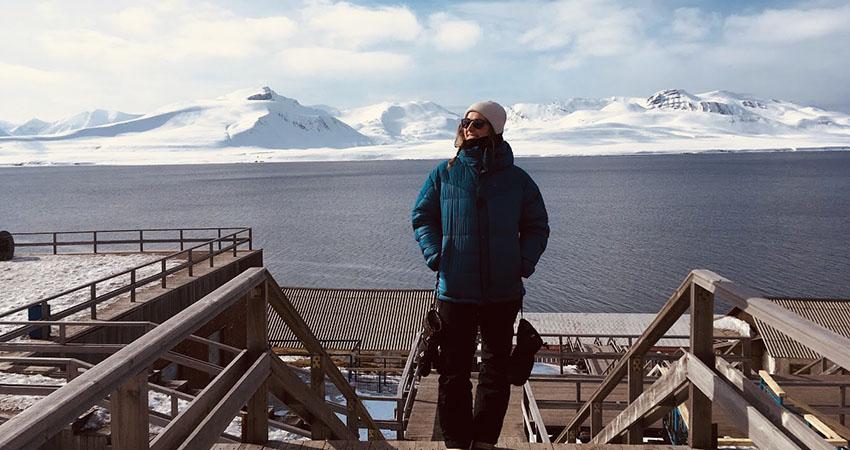 Ronja in Barentsburg. Photo: Private