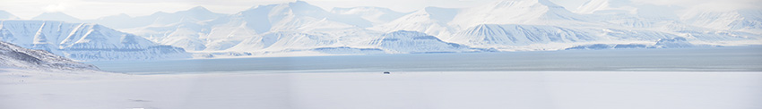 Panorama picture of Vindodden and Diabas in Svalbard