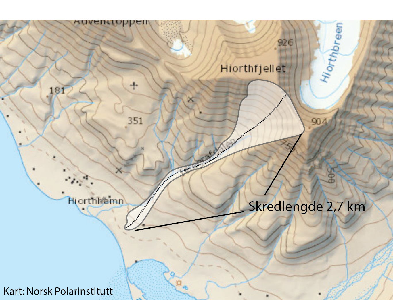 Continuous avalanche danger around Longyearbyen